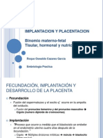 Implantacion y placentacion