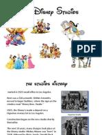 Walt Disney Studios Presentation