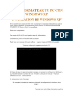 Como Formatear Tu Pc Con Windows Xp