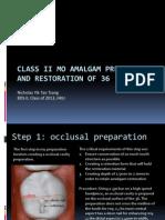 IPR - Class II MO Preparation Restoration of 36