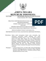 Peraturan Mentri Hukum Dan HAM Tahun2008 Naskah Akademis