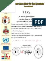 Certificato P Orlando-Florida