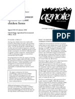 Odour Management Options for Meat Chicken Farms