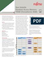 Fujitsu - Non-Volatile Random-Access Memory FRAM (Ferroelectric RAM) - FRAM Stand-Alone Memory Products