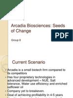 CaF - Class Presentation - Arcadia Bio Sciences