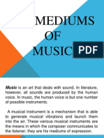 Chapter 9 Mediums of Music