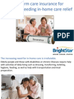 Long Term Care Insurance for Caregivers Needing in-home Care Relief