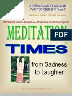 Meditation Times October 2011