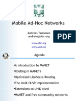 Mobile Adhoc Networks