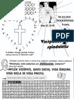 Viešpaties spindulėlis 30 eilinis sekmadienis A metų