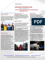 Primož Kozmus - newsletter, september 2011