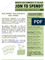 Participatory Budgeting Flyer - English, Spanish and Chinese