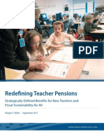 Redefining Teacher Pensions