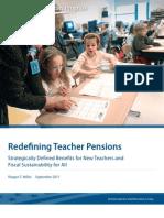Redefining Teacher Pensions