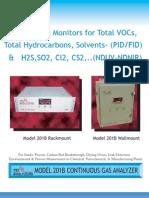 Model 201B PID FID NDUV 511