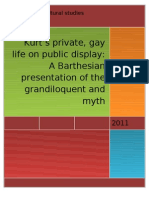 Kurt's private, gay life on public display
