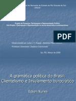 A gramática política do Brasil - clientelismo e Insulamento burocrático Edson Nunes
