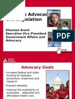 Diabetes Advocacy and Legislation (Shareen Arent)