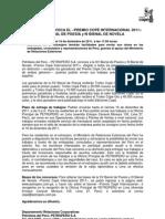 Nota de prensa Premio Copé 2011