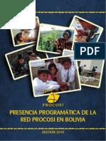 Presencia de la Red PROCOSI en Bolivia 2010