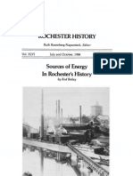 Sources of Energy in Rochester's History