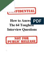 64 Toughest Interview Questions r