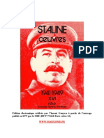 Staline Oeuvres Tome XVI 1941 1949