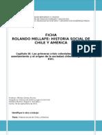 Ficha Rolando Mellafe Historia social de chile y america. cap IX