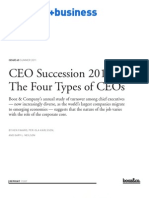 BoozCo CEO Succession 2010 Four Types