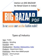 A Presentation on BIG BAZAAR