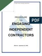 Independent Contractor Procedure
