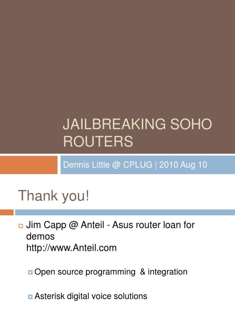 Jailbreak SOHO Routers | Computer Networking (12 views)