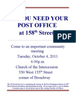 Meeting to save 158th Post Office
