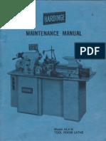 Hardinge HLV-H Maintenance Manual