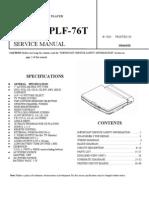 PLF-76T Service Manual