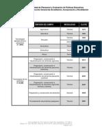 Catalogo de énfasis de Tecnología 2011, Acuerdo 593