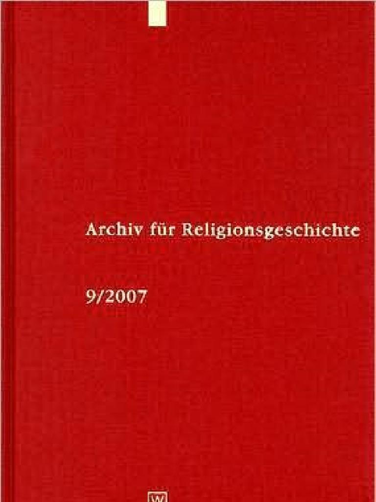 Archiv für Religionsgeschichte Volume 9 - (2007) | Mysticism | Yoga