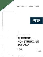 Elementi i Konstrukcije Zgrada-II Deo