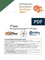 OBF2007 1Fase 1&2serie Prova1