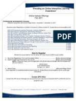 2011 Fall Online Institute Course Offering