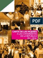 Carta a Las Congresistas de la República 2011-2016
