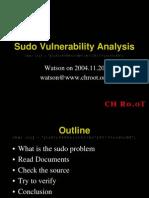 Sudo Vulnerability Analysis