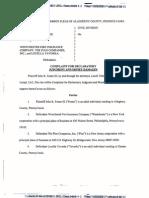 FOSTER v. WESTCHESTER FIRE INSURANCE COMPANY et al Complaint