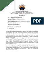Microdiseño Historia de la Educación y ...