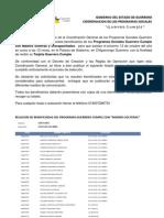 Beneficiarios - Región Costa Chica