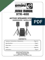 Gemini - Active Speaker XTR-400 - Service Manual