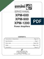 Gemini - Amplifier XPM-600, 900, 1200 - Service Manual