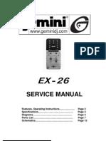 Gemini - Mixer EX-26 - Service Manual