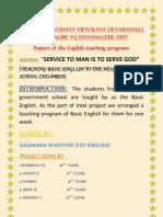 Report of the teaching program