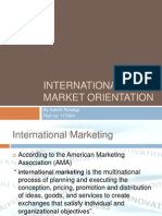 International Market Orientation